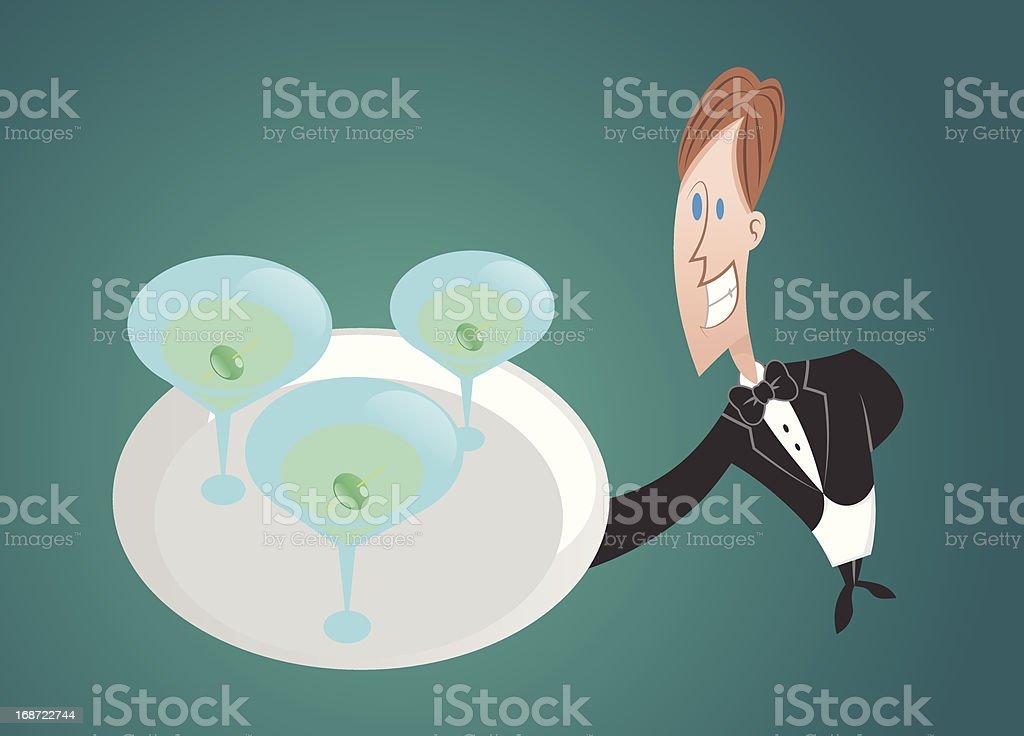 Drink service vector art illustration
