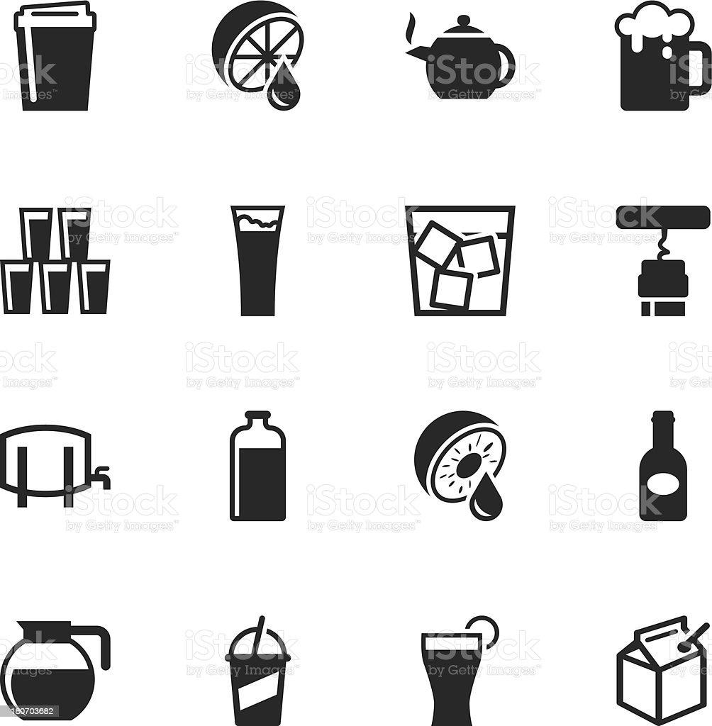 Drink Silhouette Icons | Set 3 vector art illustration