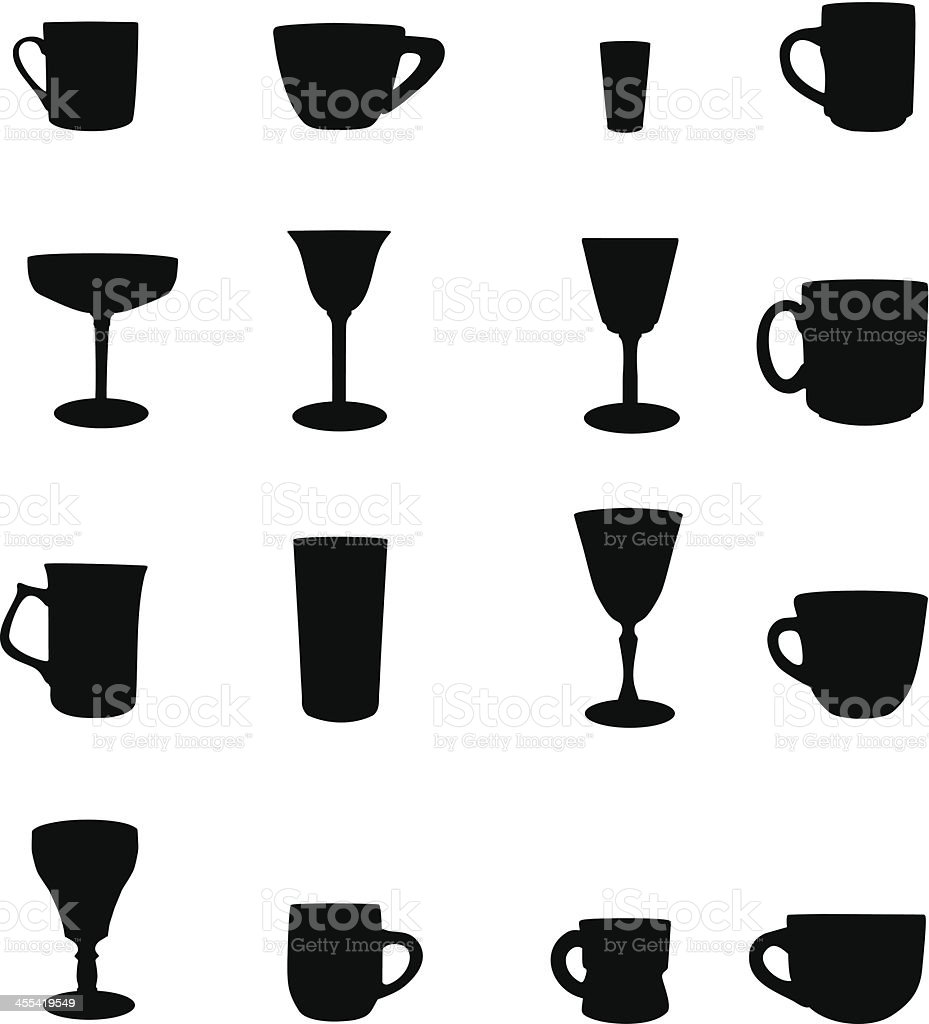 Drink silhouette royalty-free stock vector art