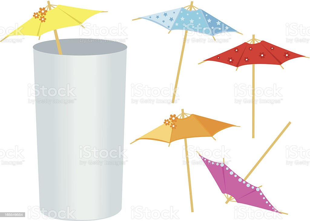 Drink Umbrellas royalty-free stock vector art