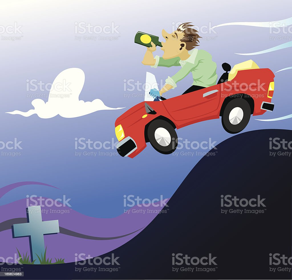 drink-drive campaign royalty-free stock vector art