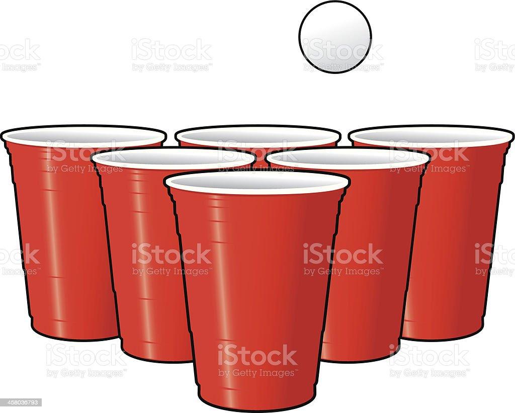 Drinking Games - Beer Pong vector art illustration