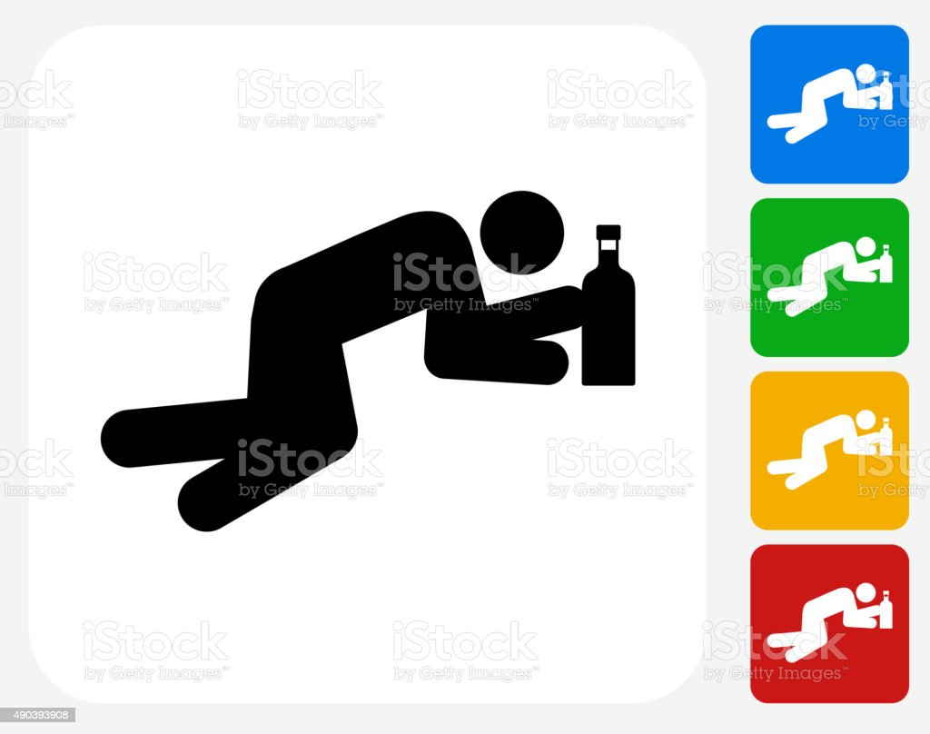 Drinking Icon Flat Graphic Design vector art illustration