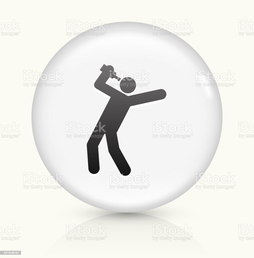 Drinking icon on white round vector button vector art illustration