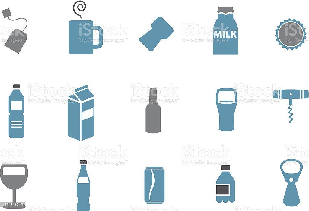 Drinking Icon Set vector art illustration