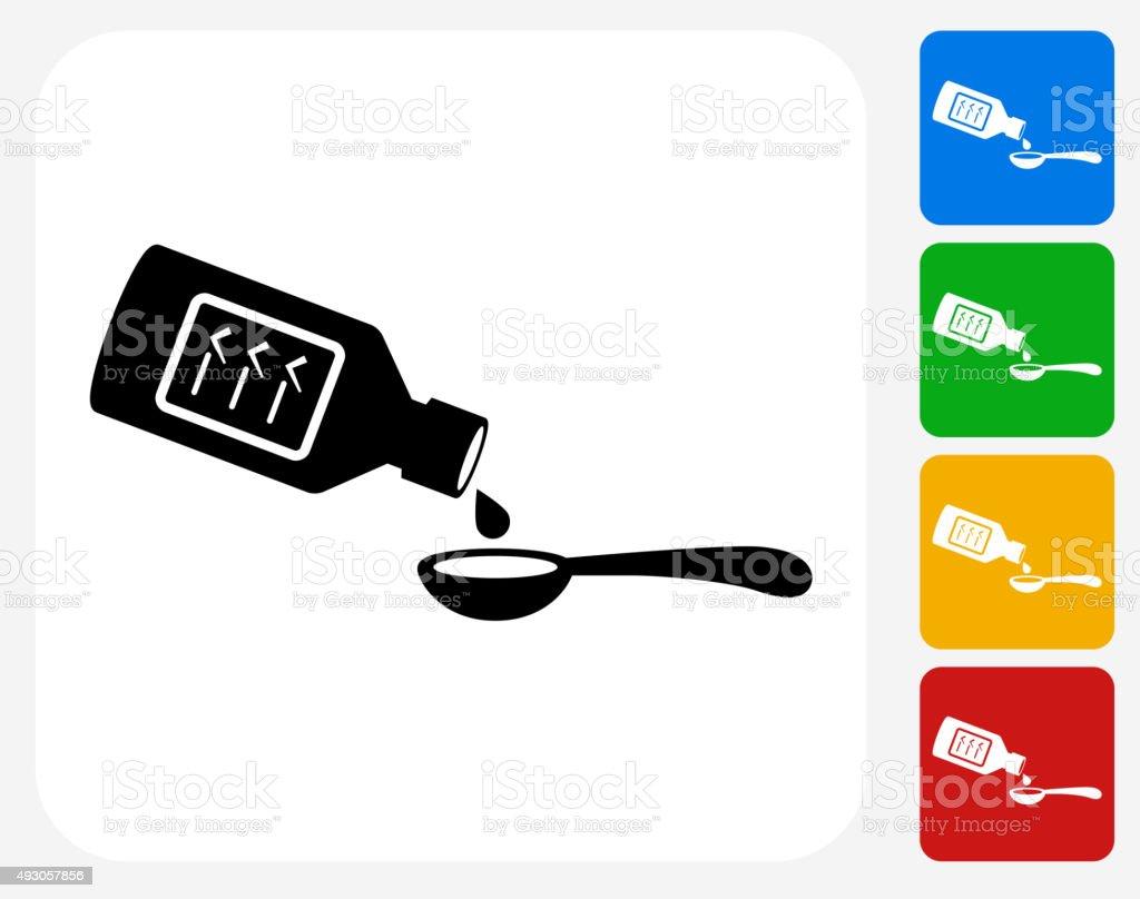 Drinking Medicine Icon Flat Graphic Design vector art illustration