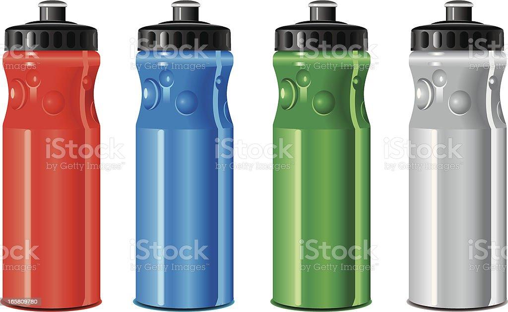 drinking water bottle vector art illustration