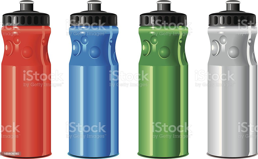 drinking water bottle vector art illustration