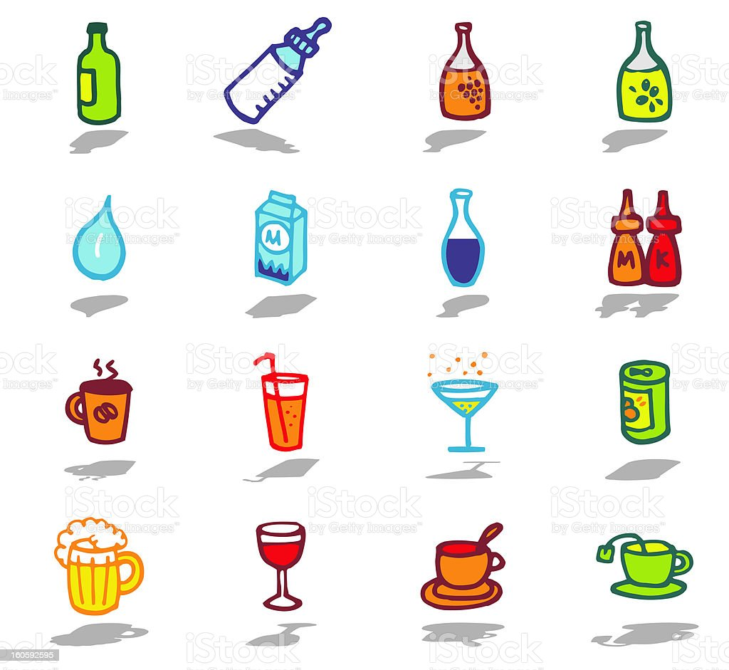 drinks and food theme royalty-free stock vector art