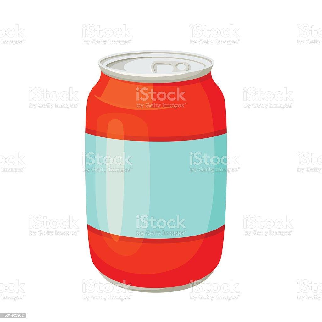 Soda cans. Drinks and soda jars vector illustration. Beverage...