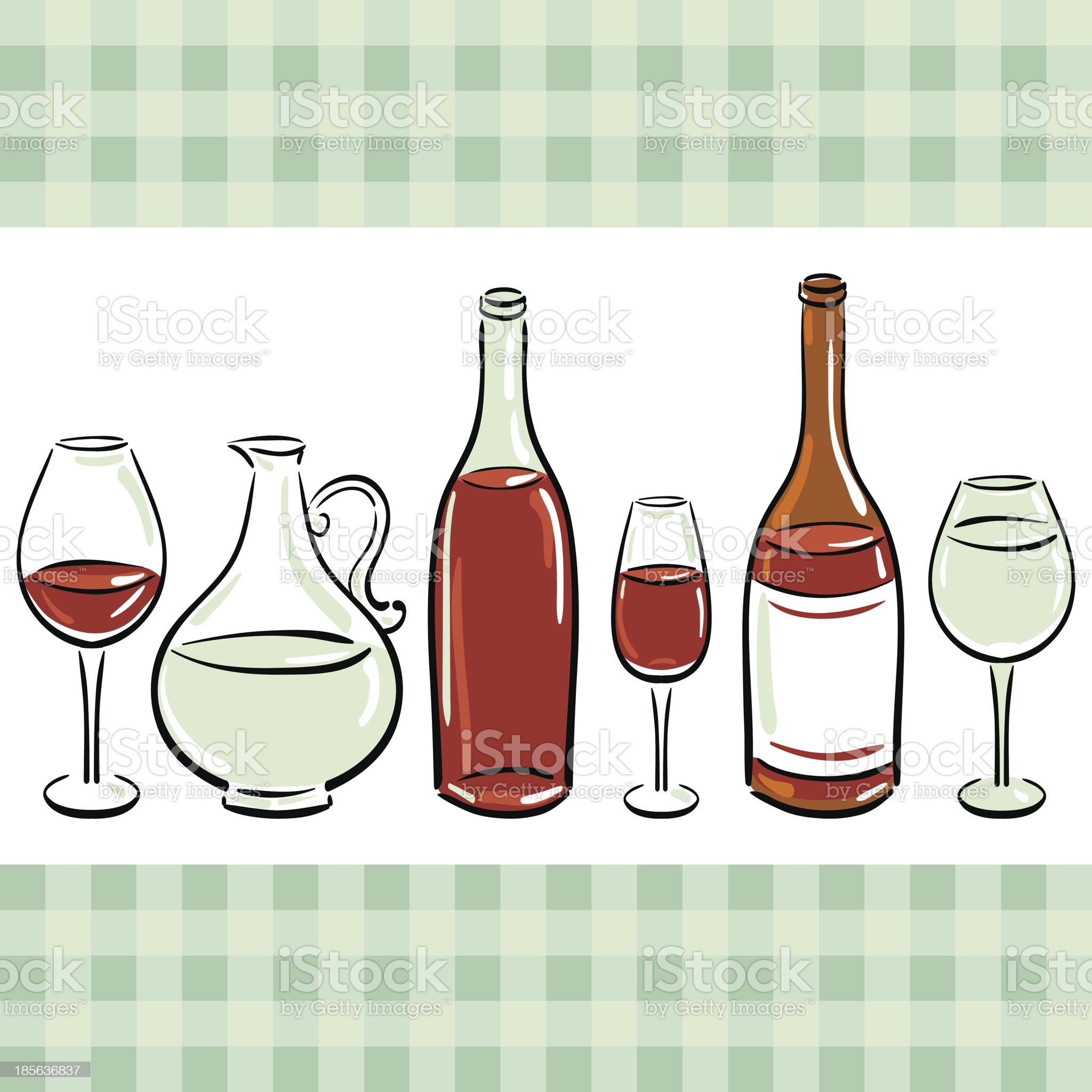 Drinks background royalty-free stock vector art