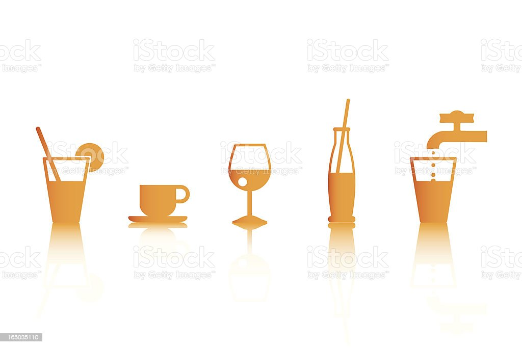 Drinks icons (Vector) vector art illustration
