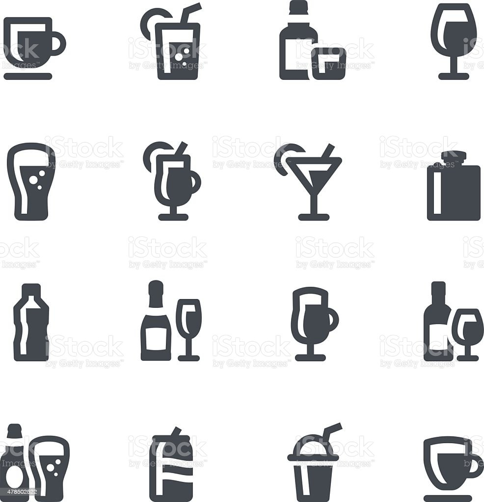 Drinks Icons vector art illustration