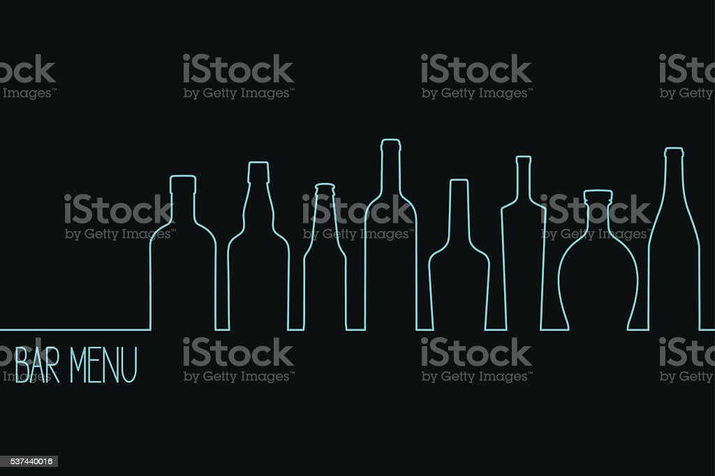 Drinks menu design vector art illustration