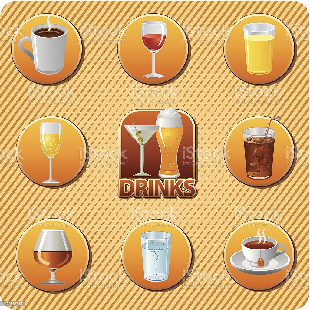 drinks menu icon set royalty-free stock vector art