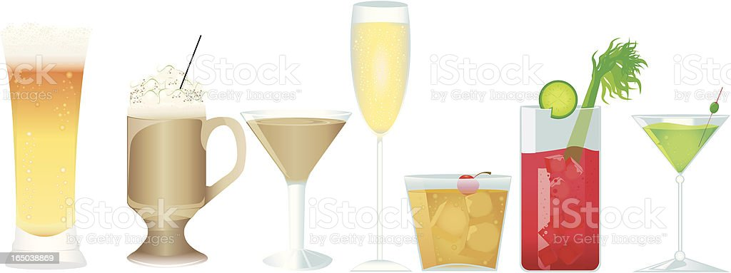 Drinks O' Plenty vector art illustration