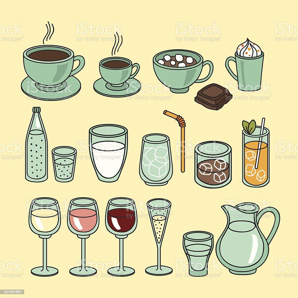 Drinks set royalty-free stock vector art