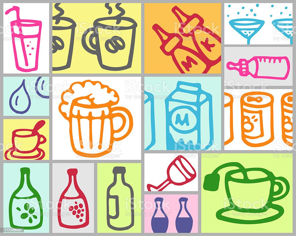 drinks theme royalty-free stock vector art