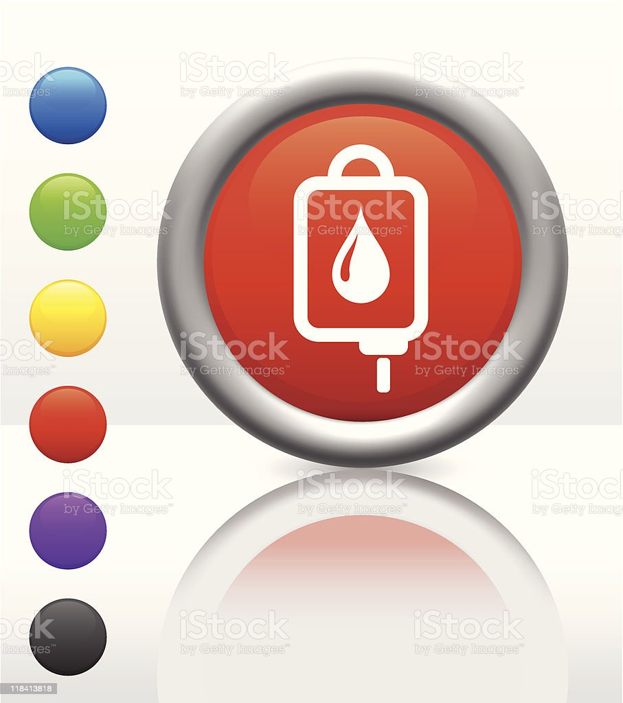IV drip icon on internet button royalty-free stock vector art