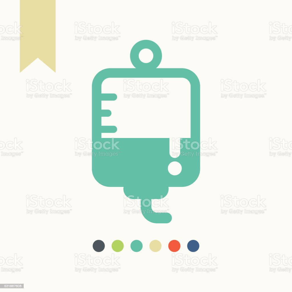IV drip icon vector art illustration