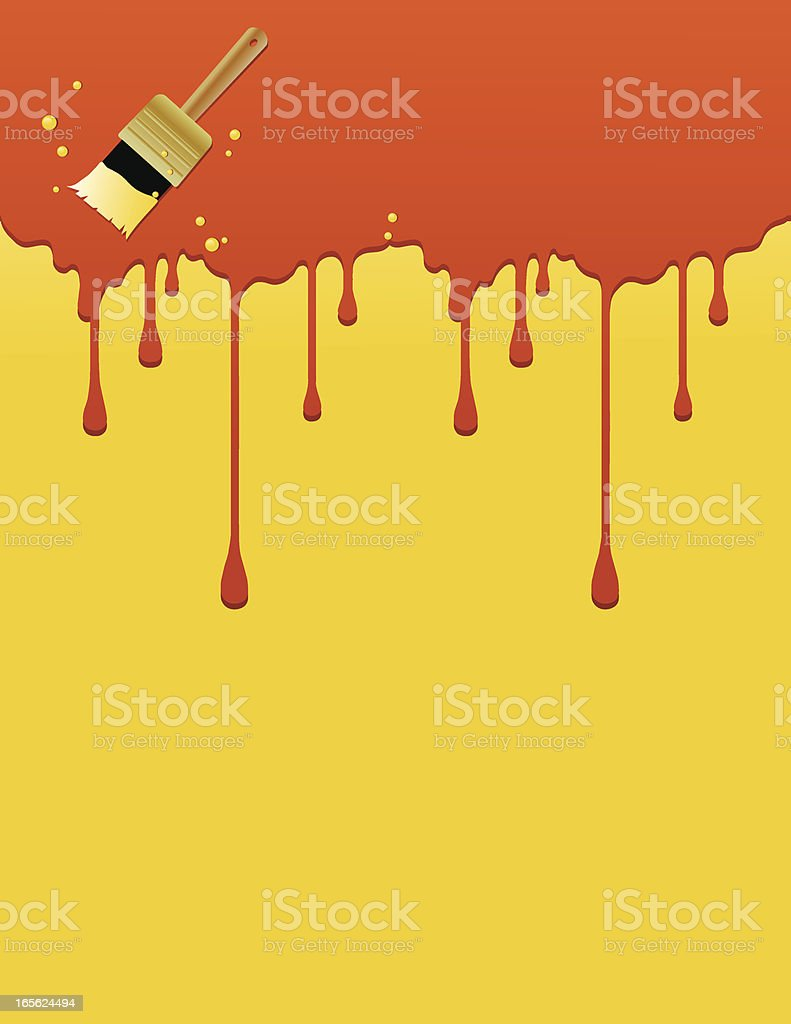 Dripping Paint Background royalty-free stock vector art