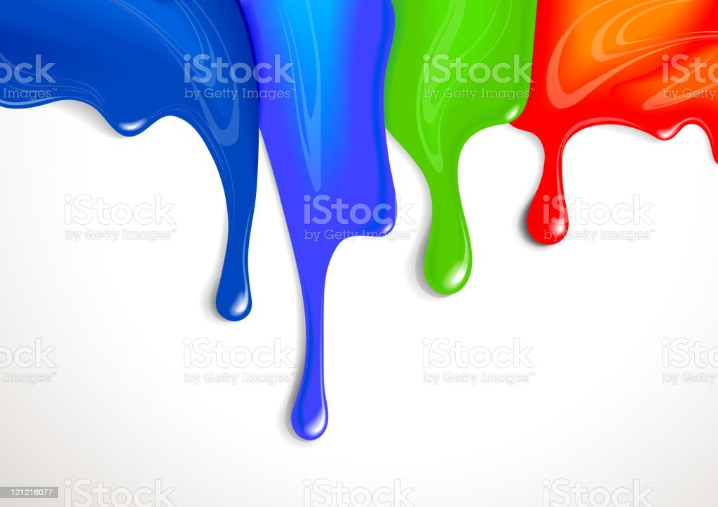 Drips of paint royalty-free stock vector art