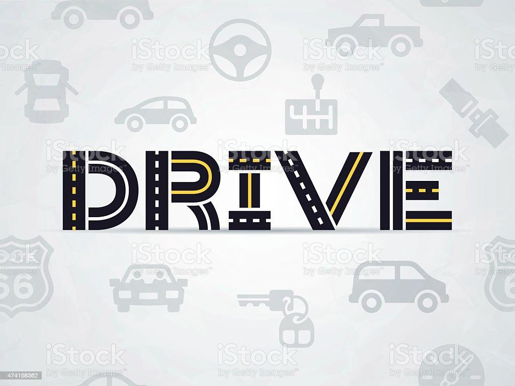 Drive vector art illustration