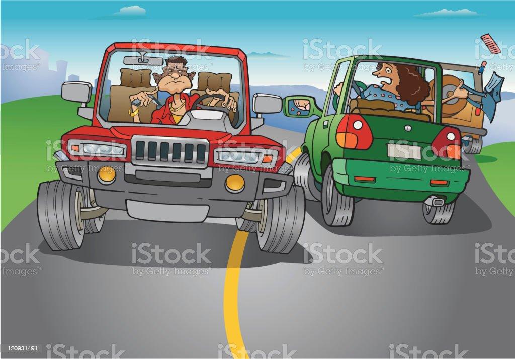 Driver attack vector art illustration