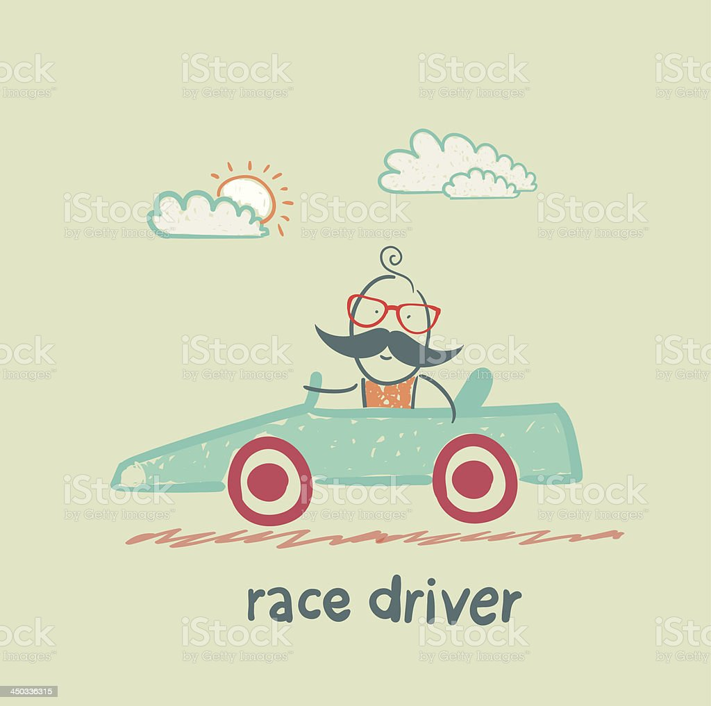 driver rides in the car royalty-free stock vector art