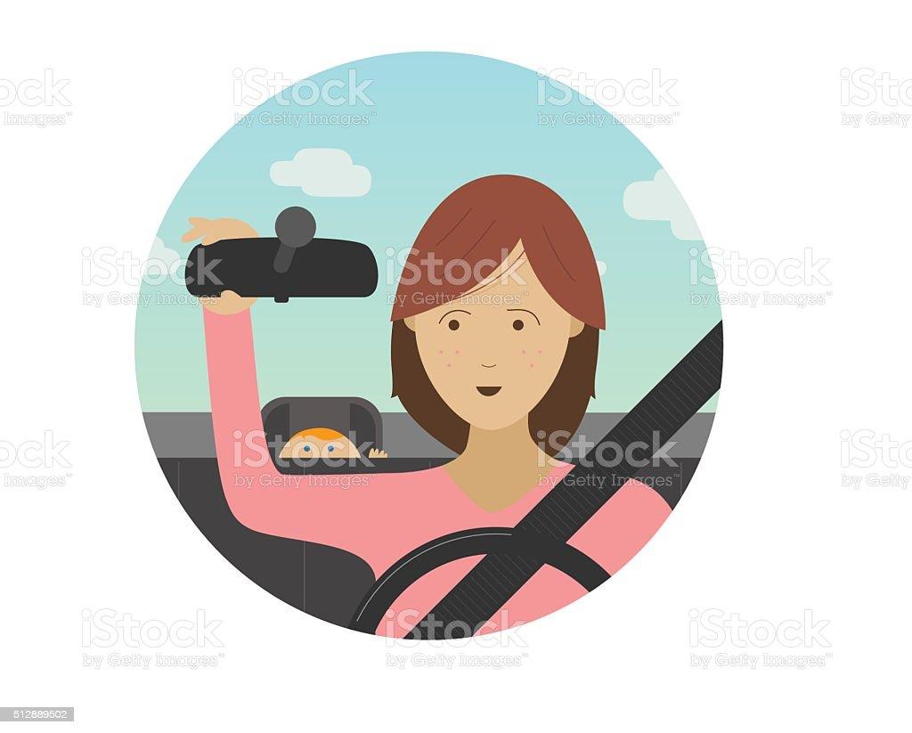 Driver safety vector art illustration