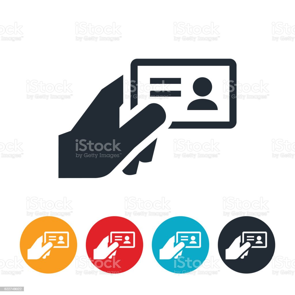 Drivers License Icon vector art illustration