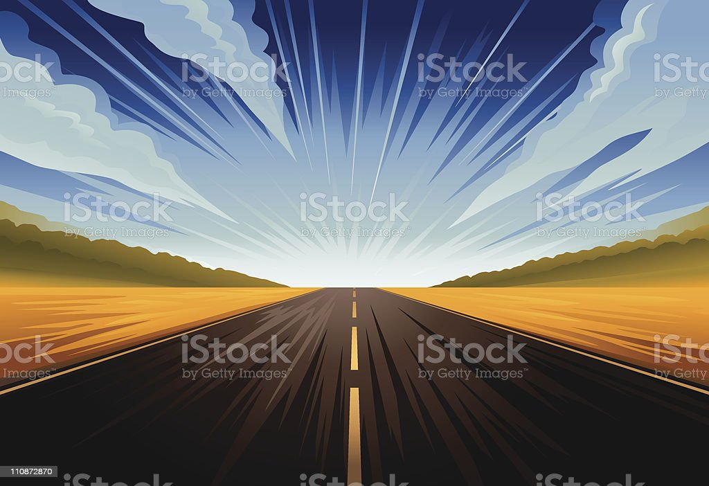Driving fast. royalty-free stock vector art