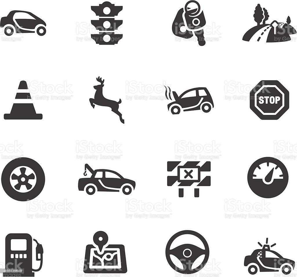 Driving Symbols vector art illustration