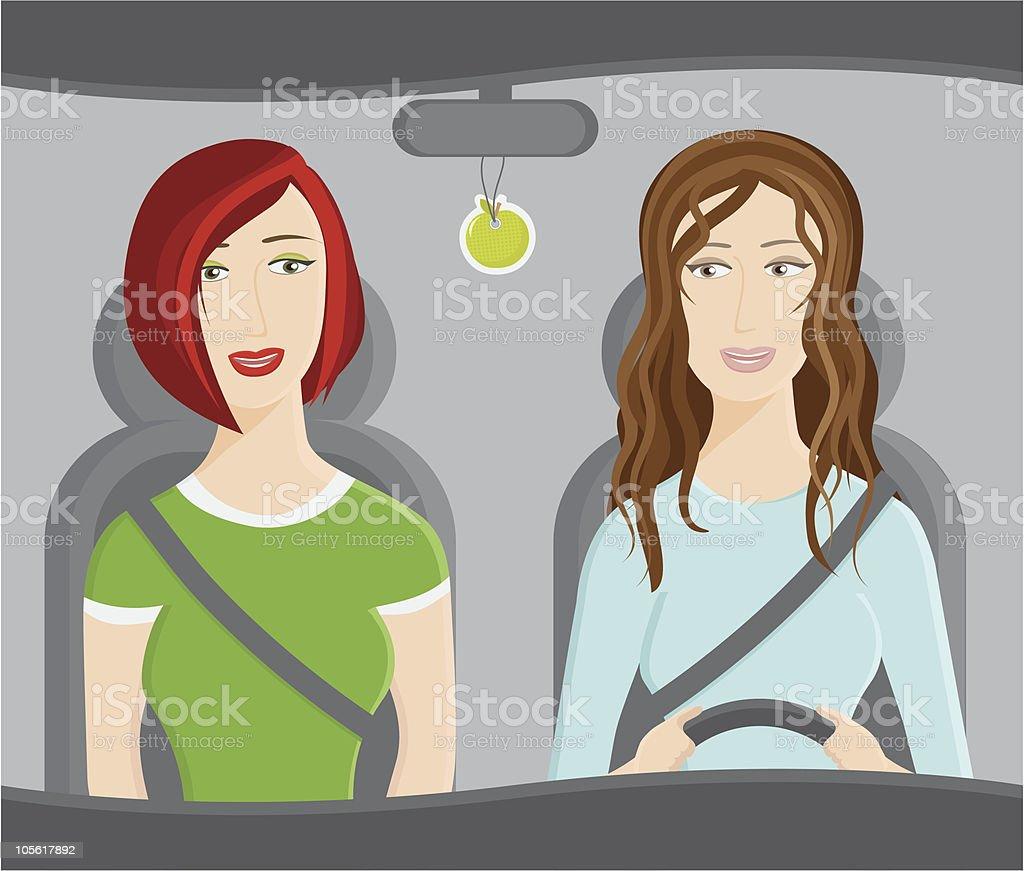 Driving vector art illustration