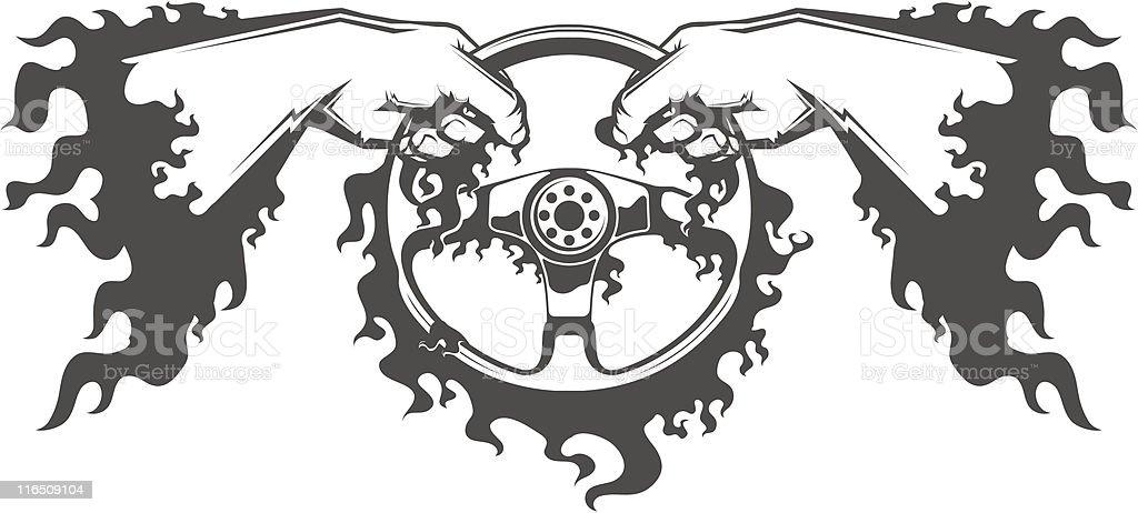 driving (vector) royalty-free stock vector art