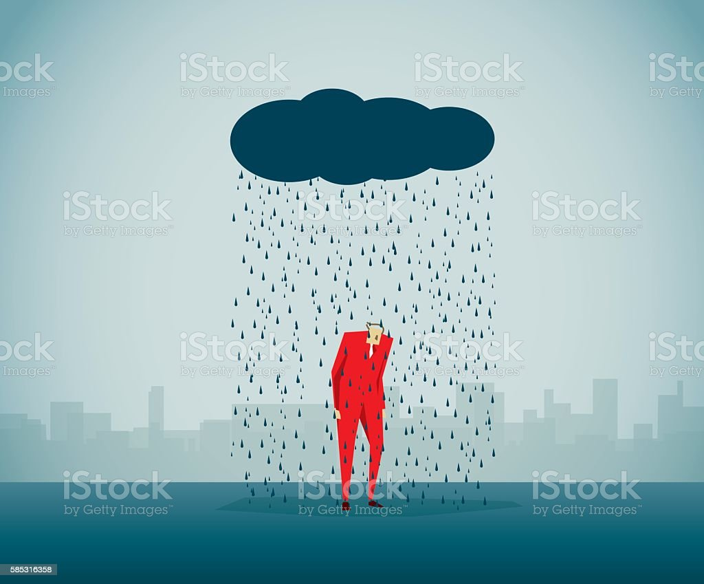 Drizzle vector art illustration