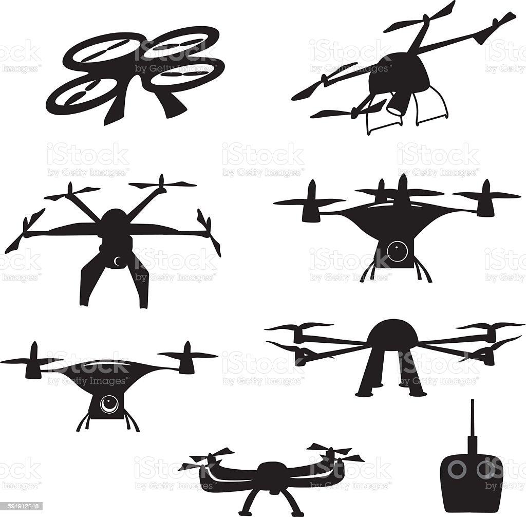 Drone Arial Video vector art illustration