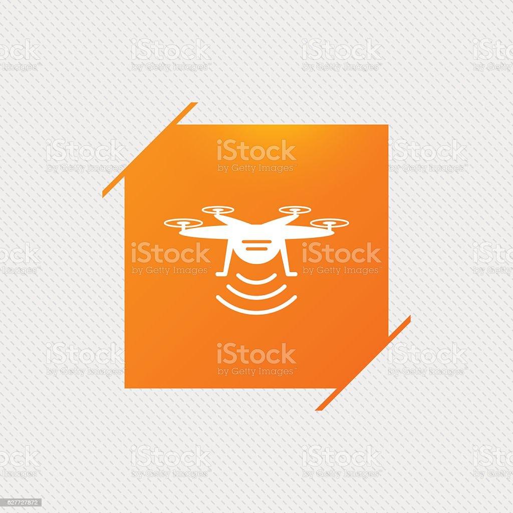 Drone icon. Quadrocopter symbol. vector art illustration
