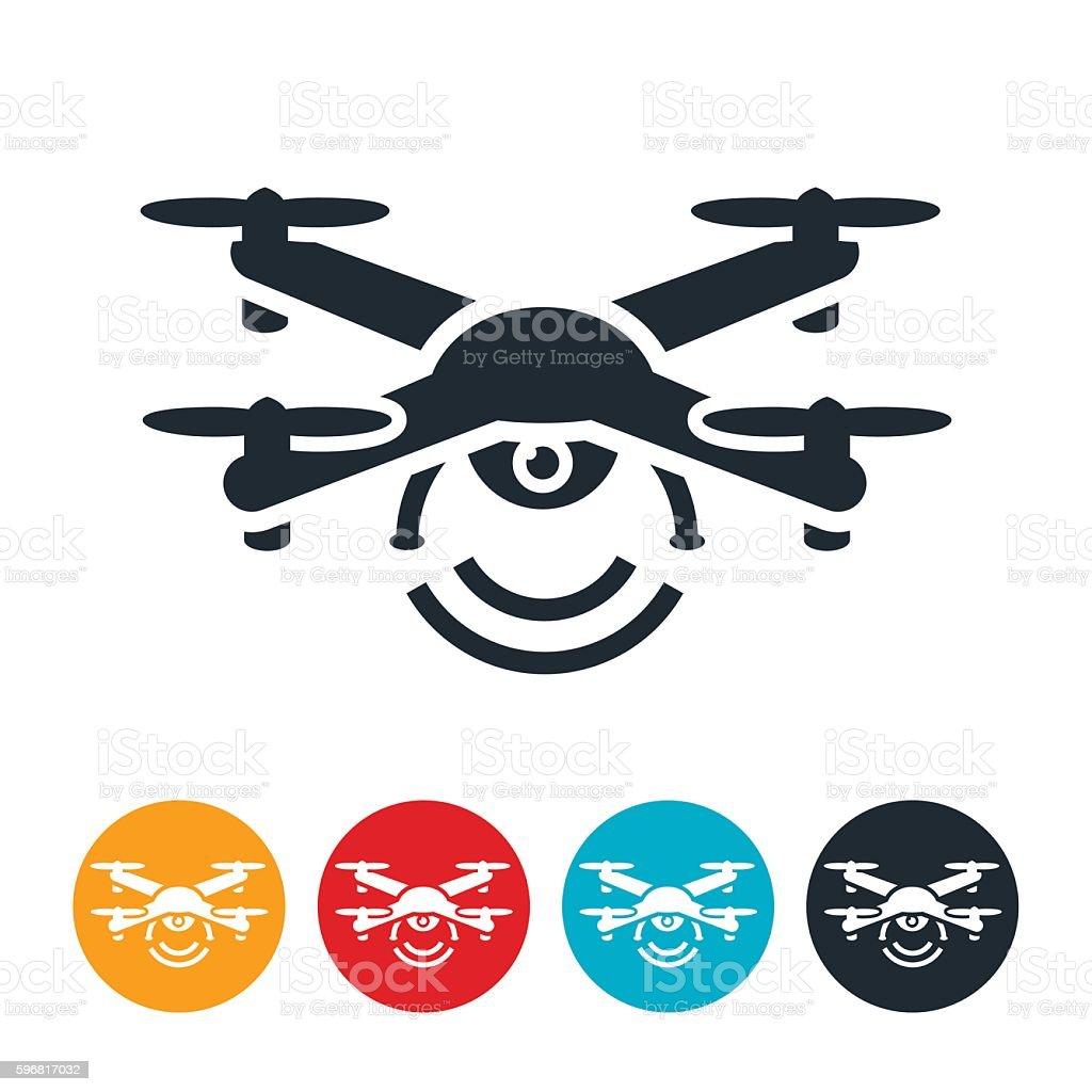 Drone Icon vector art illustration
