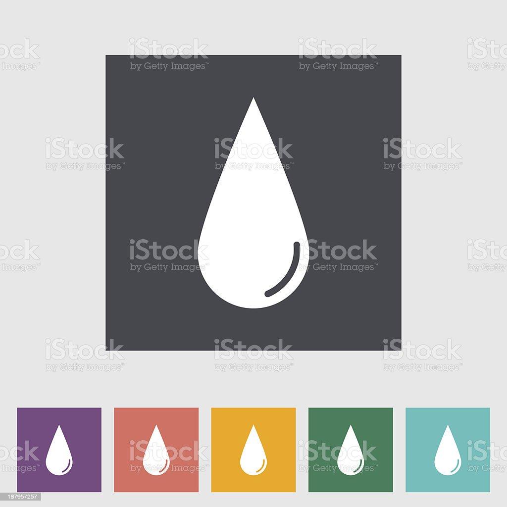 Drop flat icon. royalty-free stock vector art