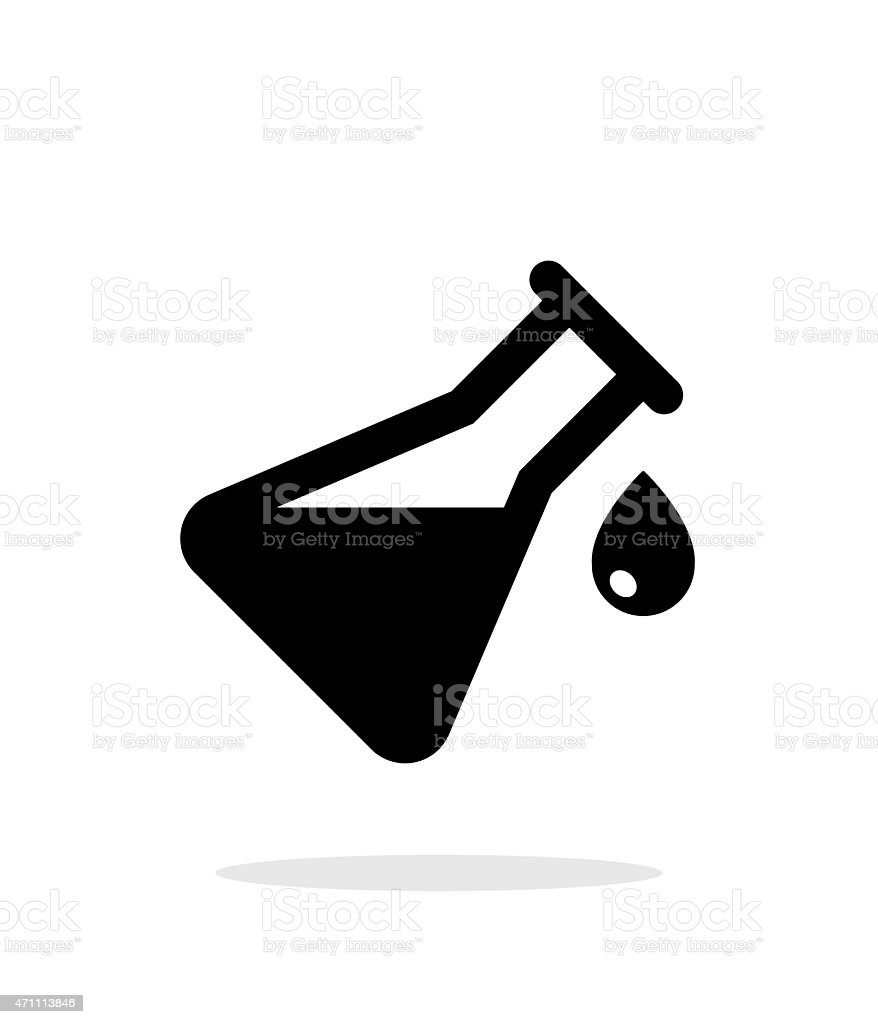 Drop from flask simple icon on white background vector art illustration