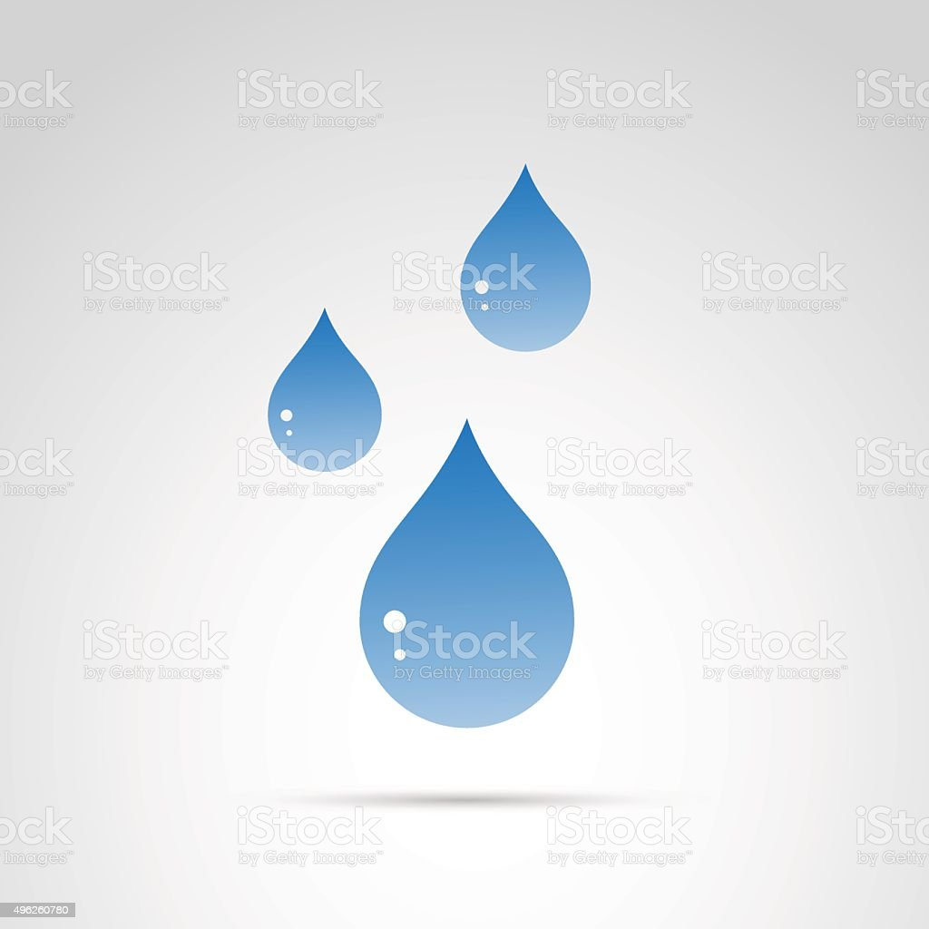 Drop icon isolated on white background. vector art illustration