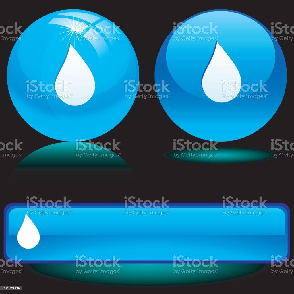 Drop icons. vector art illustration