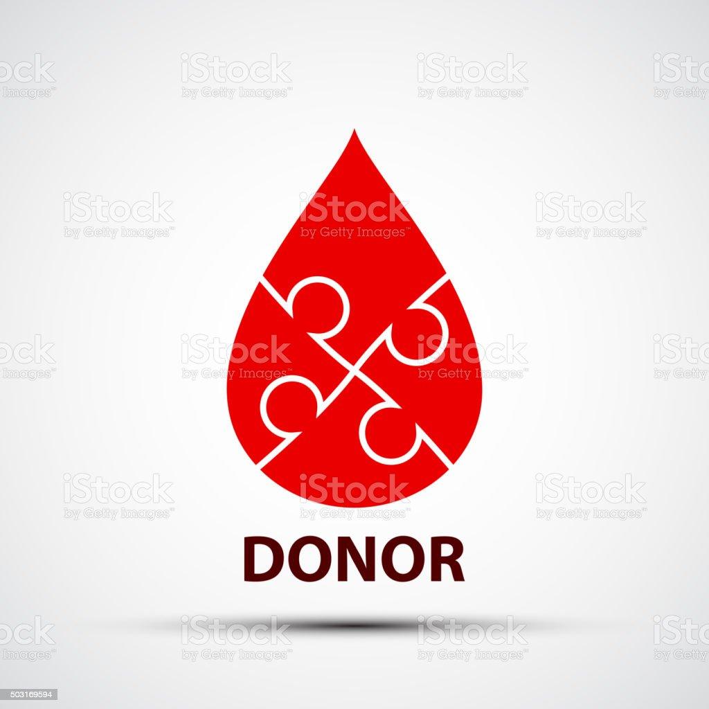 Drop of blood vector art illustration