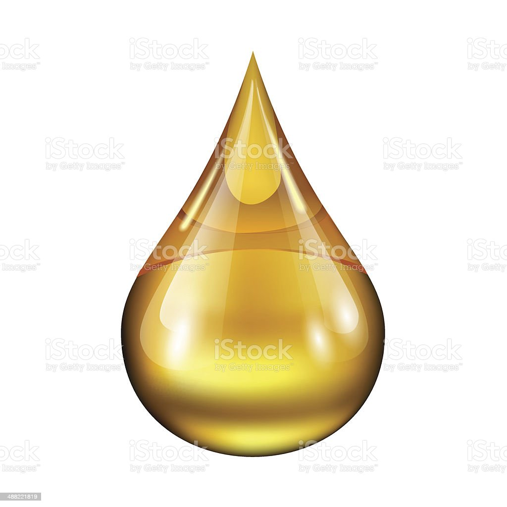 drop of oil vector art illustration
