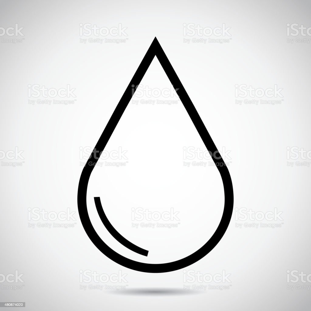 Drop of water - Vector icon isolated. vector art illustration