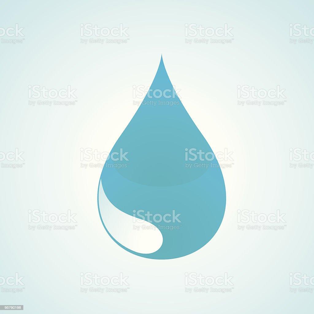 Drop of Water royalty-free stock vector art