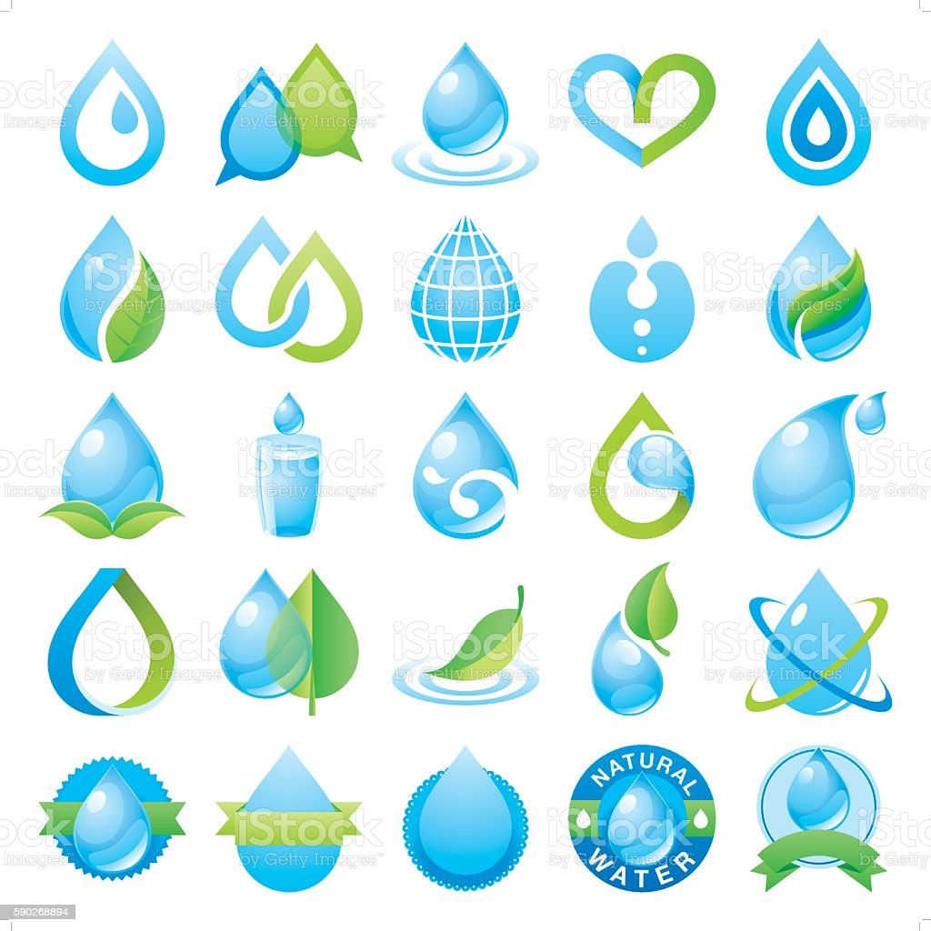 droplet and water vector art illustration