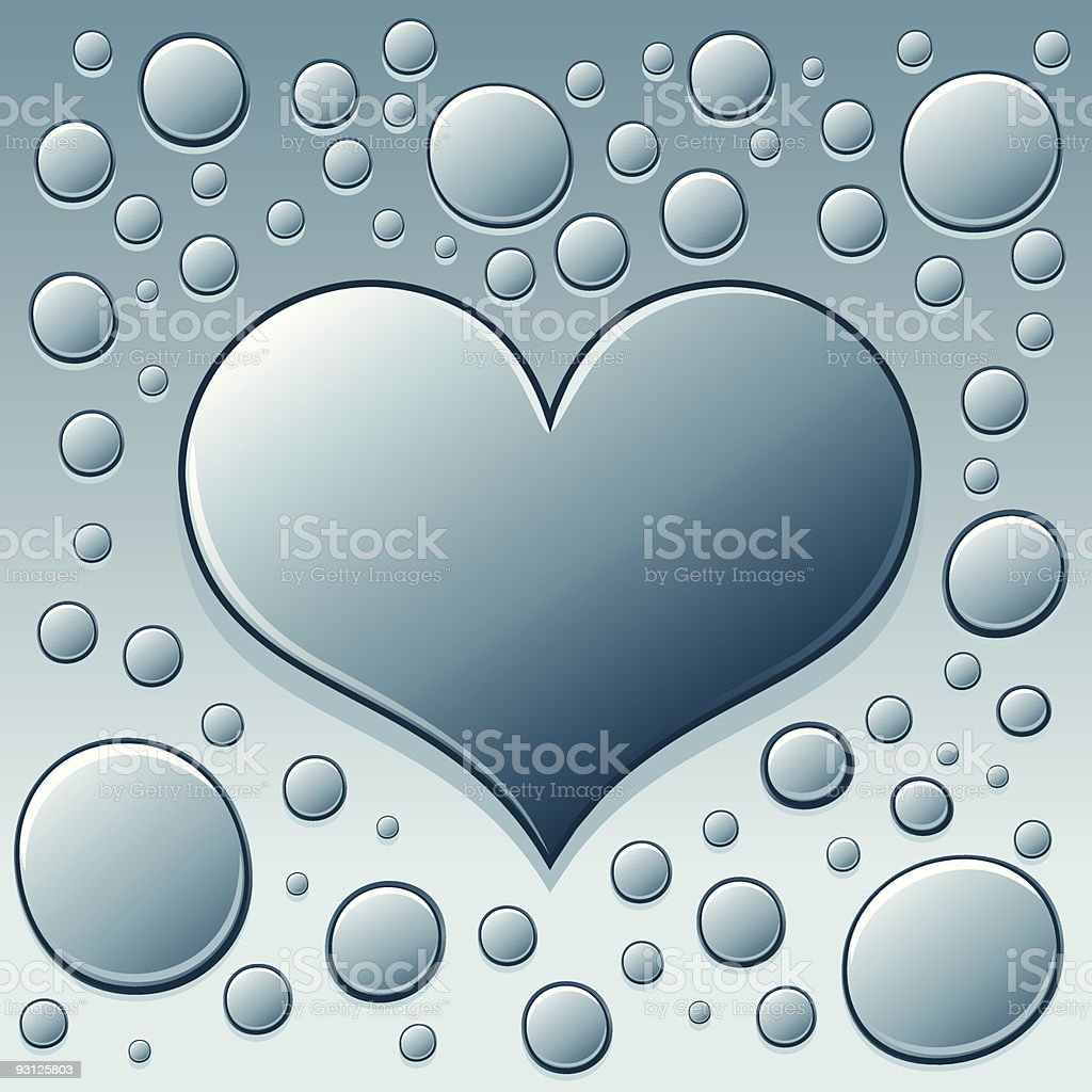 Droplet of Love royalty-free stock vector art