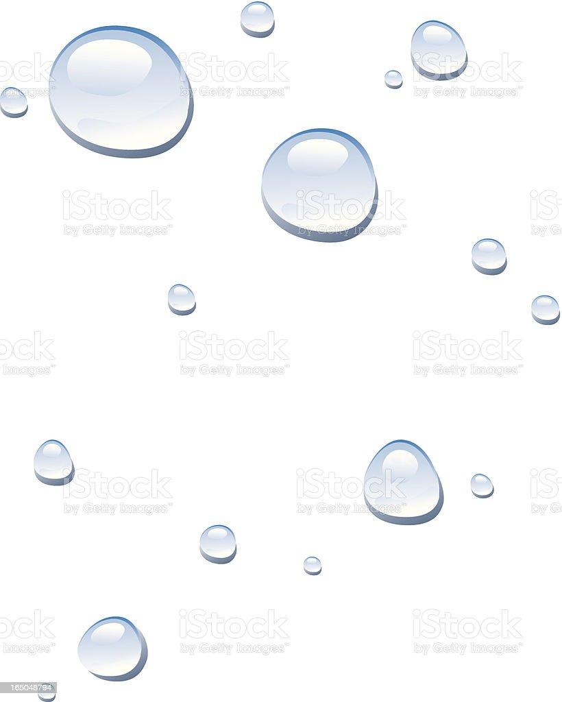 Droplets vector art illustration